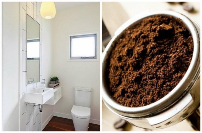 Bạn nên dùng bã cà phê để khử mùi trong phòng kín