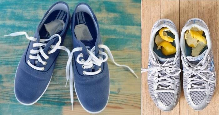 Khử mùi hôi khó chịu trong giày bằng nguyên liệu sẳn có